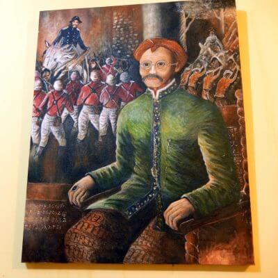 """Lukisan """"Kakek Pejuang"""" karya Tjetjep Subarnas"""