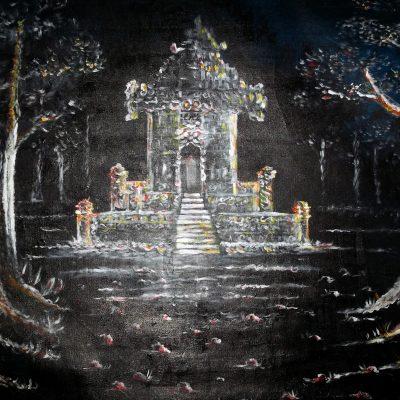 Lukisan candi kerajaan karya Tjetjep Subarnas