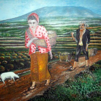 Lukisan orang desa karya Tjetjep Subarnas